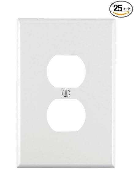 Leviton 88103 1 Gang Duplex Device Receptacle Wallplate Oversized