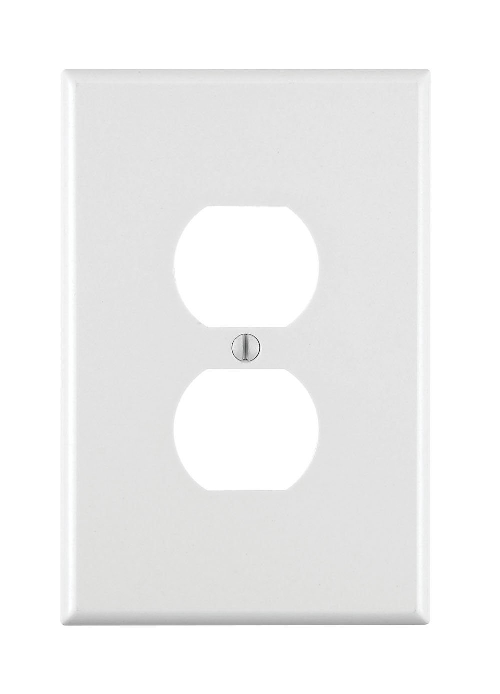Leviton 88103 1-Gang Duplex Device Receptacle Wallplate, Oversized, Thermoset, Device Mount, 25-Pack, White
