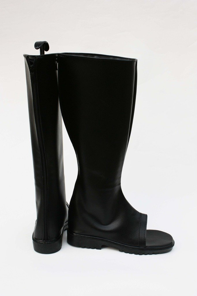 Telacos NARUTO Anime Naruto Ninja Cosplay Shoes Black Boots Custom Made
