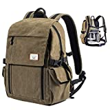 Zecti Camera Backpack Waterproof Canvas DSLR Camera Bag (New Version) For 1 DSLR