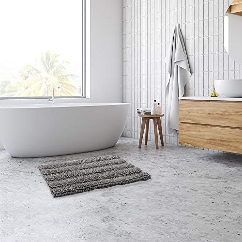 Gray Bathroom Rug,Chenille Bath Mat,Bath Rug,Shaggy Bathroom Mat,Floor Mat(20x32inch)