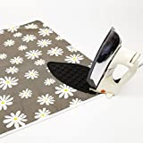 """Encasa Homes Padded Ironing Mat (47"""" x 28"""") with Silicone Iron Rest - Daisy Flower"""