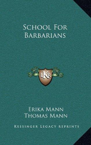 School for Barbarians ebook