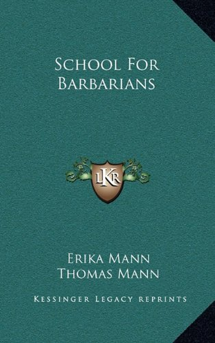 Read Online School for Barbarians pdf epub