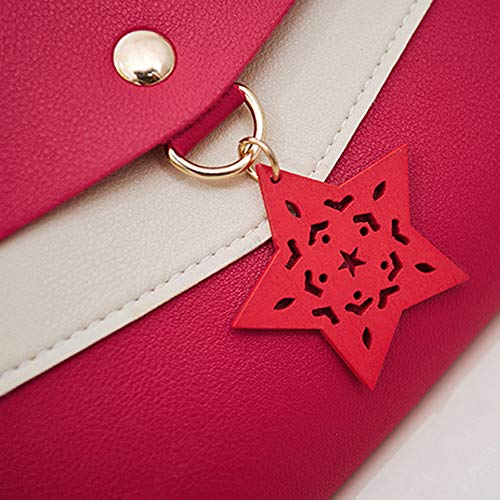 Bolso Crossbody showsing Rosa Red Small Mujer Bags para Hombro al 7E7Urqwd