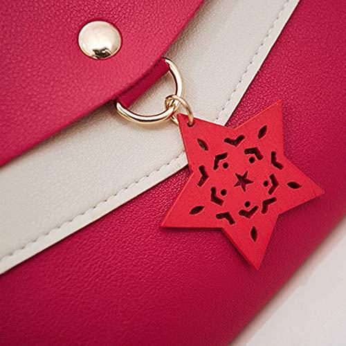 Bags Small al Crossbody para Red Mujer Hombro Rosa Bolso showsing Bq7w5q