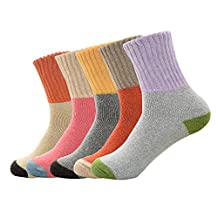 Spring fever Women's 5 Pairs Super Thick Soft Warm Comfortable Socks