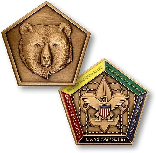(Bear Wood Badge Medallion)