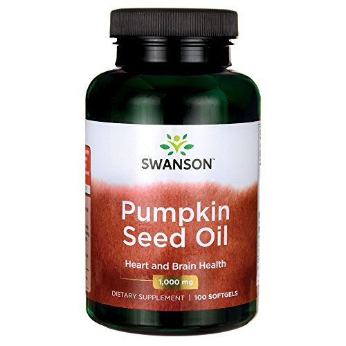 Swanson Pumpkin Seed Oil Brain Health Cardiovascular Support High Bioavailable Essential Fatty Acids (EFAs) Combination Herbal Supplement 1000 mg 100 Softgel Capsules Review