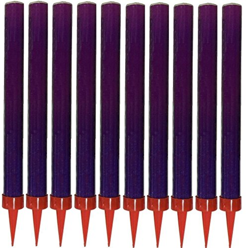 Smokeless Birthday Cake Candle Sparklers PURPLE 10 Pk