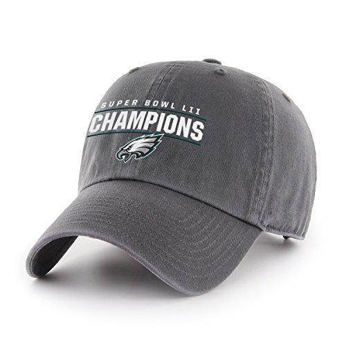 OTS NFL Philadelphia Eagles Super Bowl 52 Champions Challenger Adjustable Hat, One Size, Charcoal]()