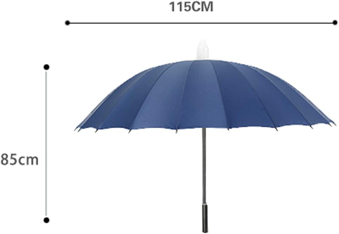 bleicute Large 24 Ribs Manual Umbrella Long Umbrella with Waterproof Sleeve Durable and Strong Enough for The Wind and Rain