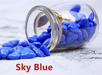 mdlg Vintage 90pcs cielo Azul Forma de Corazón Cristal embotellada para sellado con cera Sello invitaciones