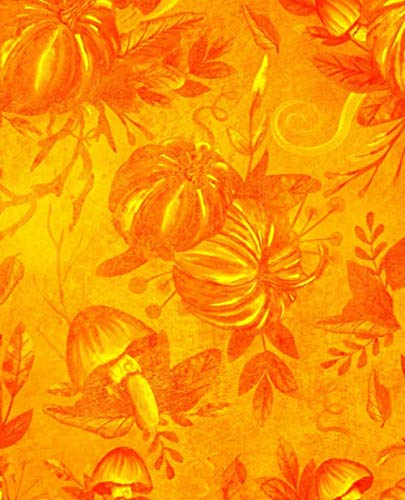 Notebook: Orange Pumpkin Notebook|7.5 x 9.25|110 Pages|Wide-Ruled| Perfect Gift for Halloween, Thanksgiving or Fall Holiday| Use for Notes, Ideas, School, To-Do-List,Creative Ideas