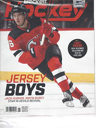 NEWEST GUIDE: Beckett Hockey Card Monthly Price Guide (October 3, 2019 release/J. Hughes cover)