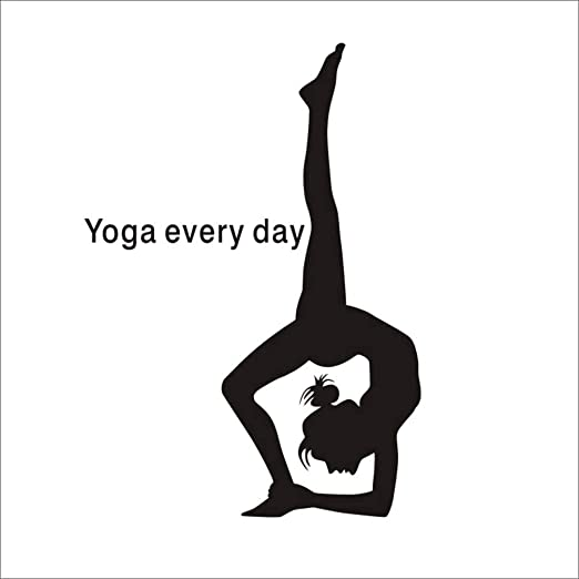 pegatina de pared Yoga Girl Club Sticker Decal Posters ...