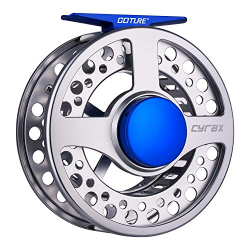 Goture Large Arbor Fly Fishing Reel Cyrax Freshwater CNC-machined Aluminum Alloy Fly Reel 5/6, 7/8