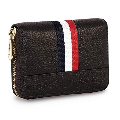 Storite 12 Slot PU Leather Credit/Debit Zipper Card Holder Wallet for Men & Women – Brown