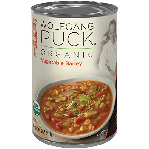 Wolfgang Puck Organic Vegetable Barley Soup, 14.5 Ounce (Packaging May Vary) (Wolfgang Soup Organic Puck)