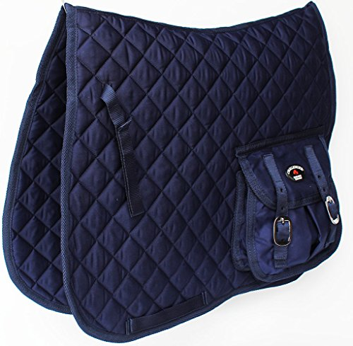 Horse Quilted ENGLISH SADDLE PAD Trail Aussie Australian Dressage Pockets (English Trail Saddle)