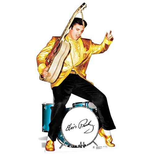 Elvis Presley Cardboard Cutout Life Size Standup Gold Jacket and Drums (Elvis Stand Up)