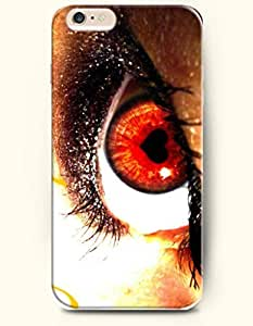 OOFIT New Apple iPhone 6 ( 4.7 Inches) Hard Case Cover - Love and Red Eye