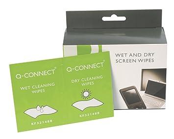Q-Connect - Toallitas limpiadoras húmedas y secas (20 unidades)
