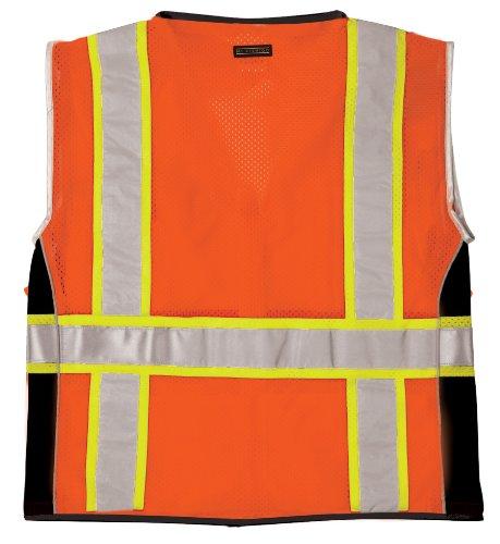 ML Kishigo 1514 Ultra-Cool Polyester Black Series Heavy Duty Vest, Large, Orange by ML Kishigo (Image #1)