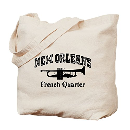 CafePress - New Orleans French Quarter - Natural Canvas Tote Bag, Cloth Shopping - Quarter New Shopping Orleans French