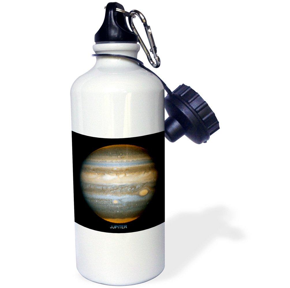 3dRose wb_76845_1 ''Solar System Jupiter's New Red Spot'' Sports Water Bottle, 21 oz, White