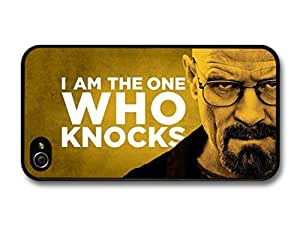 Breaking Bad Walter White I Am the One Who Knocks Quote Yellow Background For HTC One M9 Case Cover