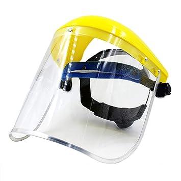 Pegcdu Seguridad careta de protección de PVC claro reemplazable ...