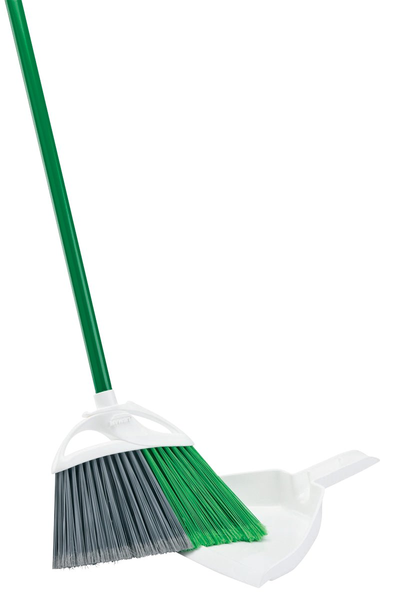 """Libman Precision Angle Broom With Dustpan 11"""" Sweeping Surface 1 4"""