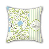 NICEPLW leaf throw cushion covers 20 x 20 inches / 50 by 50 cm best choice for adults,lover,kids,chair,coffee house,bar seat with both sides