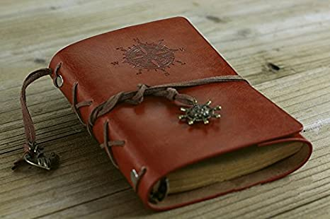 Amazon.com : 5 Inch Vintage Notebook Spiral Diary Book ...