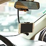 Premium Rear View Mirror Car Mount Holder Cradle Dock for iPhone 6 6S Plus, 5S 5C SE - Samsung Galaxy S7, S6, Edge, Edge+, S5 S4 S3 Galaxy Note 6 5 4 3 2 - LG G2 G3 G4 G5 V10 - Motorola Droid Turbo 2