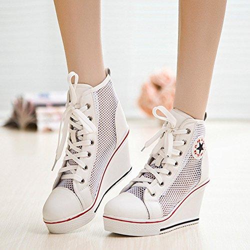 Mujer Zapatillas Padgene Blanc de Maille Deporte gntzzxUwqO