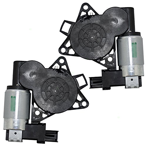 Pair Set Power Window Lift Regulator Motors w/ 2 Pin Connectors Replacement for Mazda 3 5 6 CX-7 CX-9 RX-8 G22C5958XC GJ6A5858XC (05 Mazda 3 Window Motor)