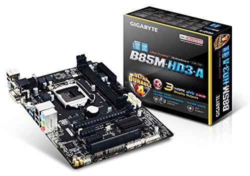 Gigabyte LGA 1150 Intel B85 HDMI SATA 6Gb/s USB 3.0 Micro ATX Intel Micro ATX DDR3 1600 Motherboards GA-B85M-HD3-A ()