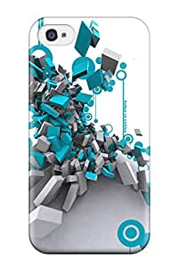 SOWFCMO1036NWGMr Anti-scratch Case Cover Marie K Floyd Protective Shapes Abstract Case For Iphone 4/4s