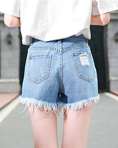 Retr Pants Pantaloncini Jeans Shorts Quge Strappi Donna Hot w0UWq4g