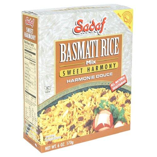 Sadaf Basmati Rice Sweet Harmony, 6-Ounce Box, (Pack of 12) by Sadaf