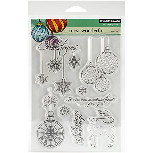 Penny Black Decorative Rubber Stamps, Most Wonderful