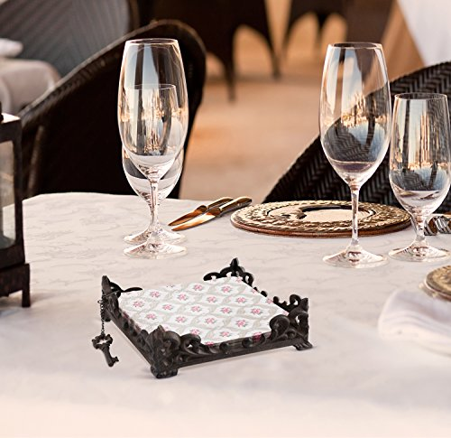 Table Family Bar Cafe Restaurant Tool Gift Home Essentials /& Beyond Handy Compact  Durable Cast Iron Napkin Holder Freestanding Tissue Dispenser Flat Napkin Holder Stand for Kitchen Countertops