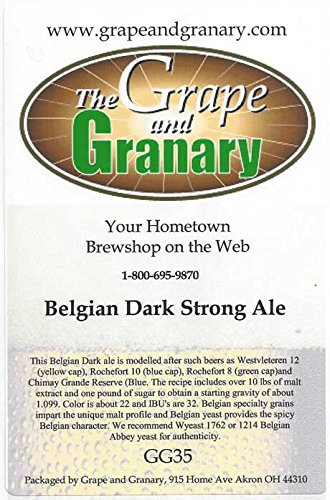 Grape and Granary Belgian Dark Strong Ale Beer Kit- For 5 US Gallons