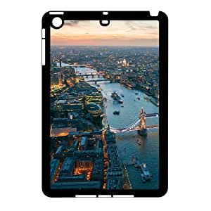 3D Cases for IPad Mini 2D, London Aerial View Cases for IPad Mini 2D, Tyquin Black