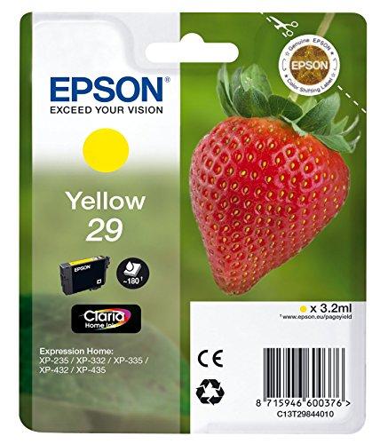Epson 29 Y - Cartucho de tinta para impresoras (Amarillo, Estándar, 10 - 80%, -40 - 60 °C, Epson Expression Home...