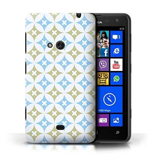 Etui / Coque pour Nokia Lumia 625 / Bleu/marron conception / Collection de Kaléidoscope