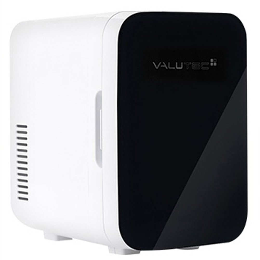 VALUTEC Vertical mini cosmetic Refrigerator in car and home Thermoelectric warmer & cooler VR 006 C 2 color simple design (Black)