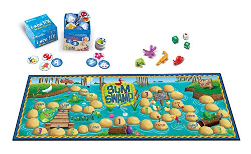 Learning Resources Math Adventure Pack, Sum Swamp & I Sea 10 Games, Multicolor ()
